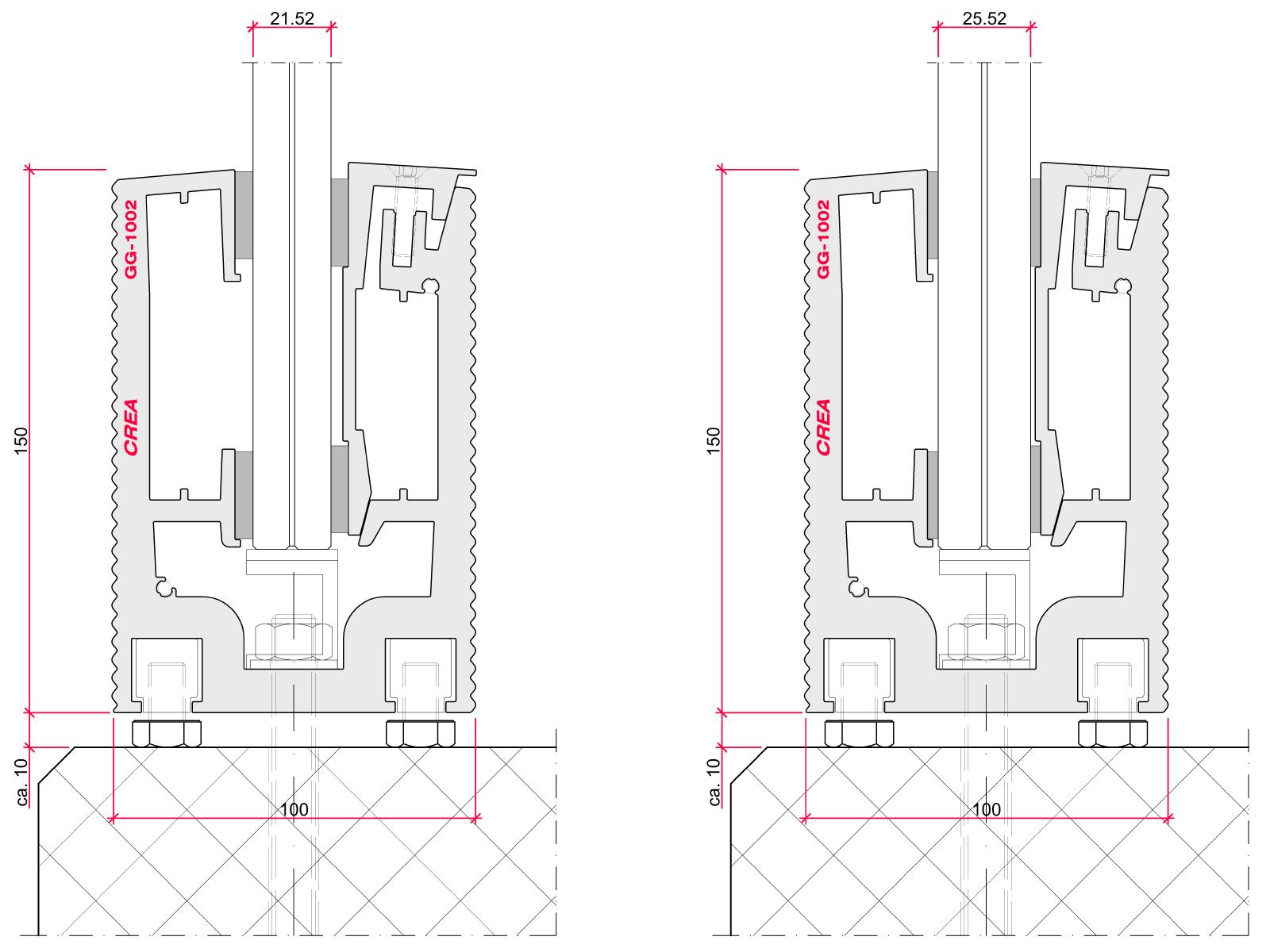 CREALINE GG-1002 installation options