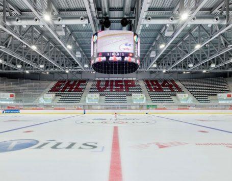 Le stade de glace Lonza Arena Visp