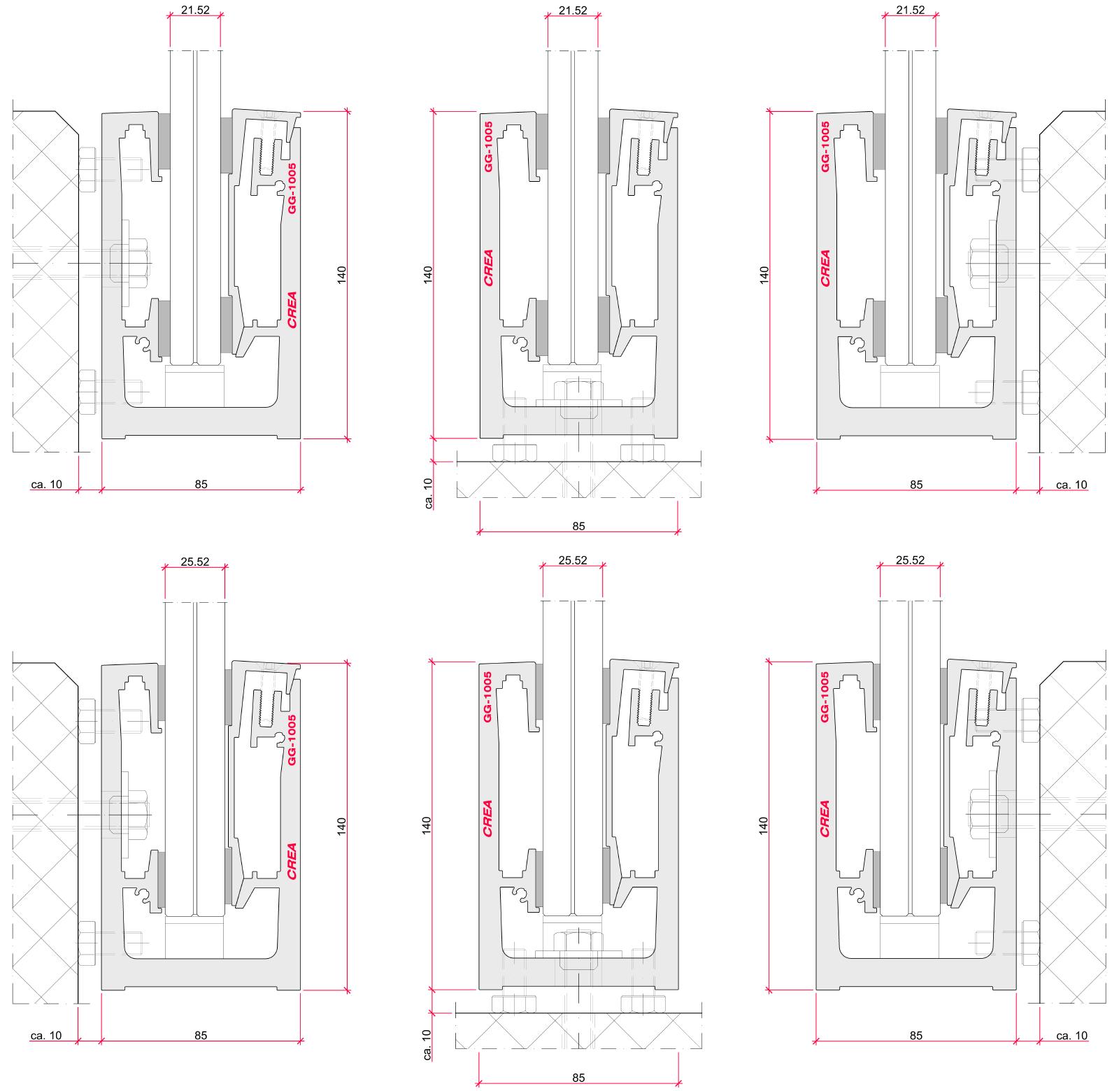 CREALINE GG-1005 installation options