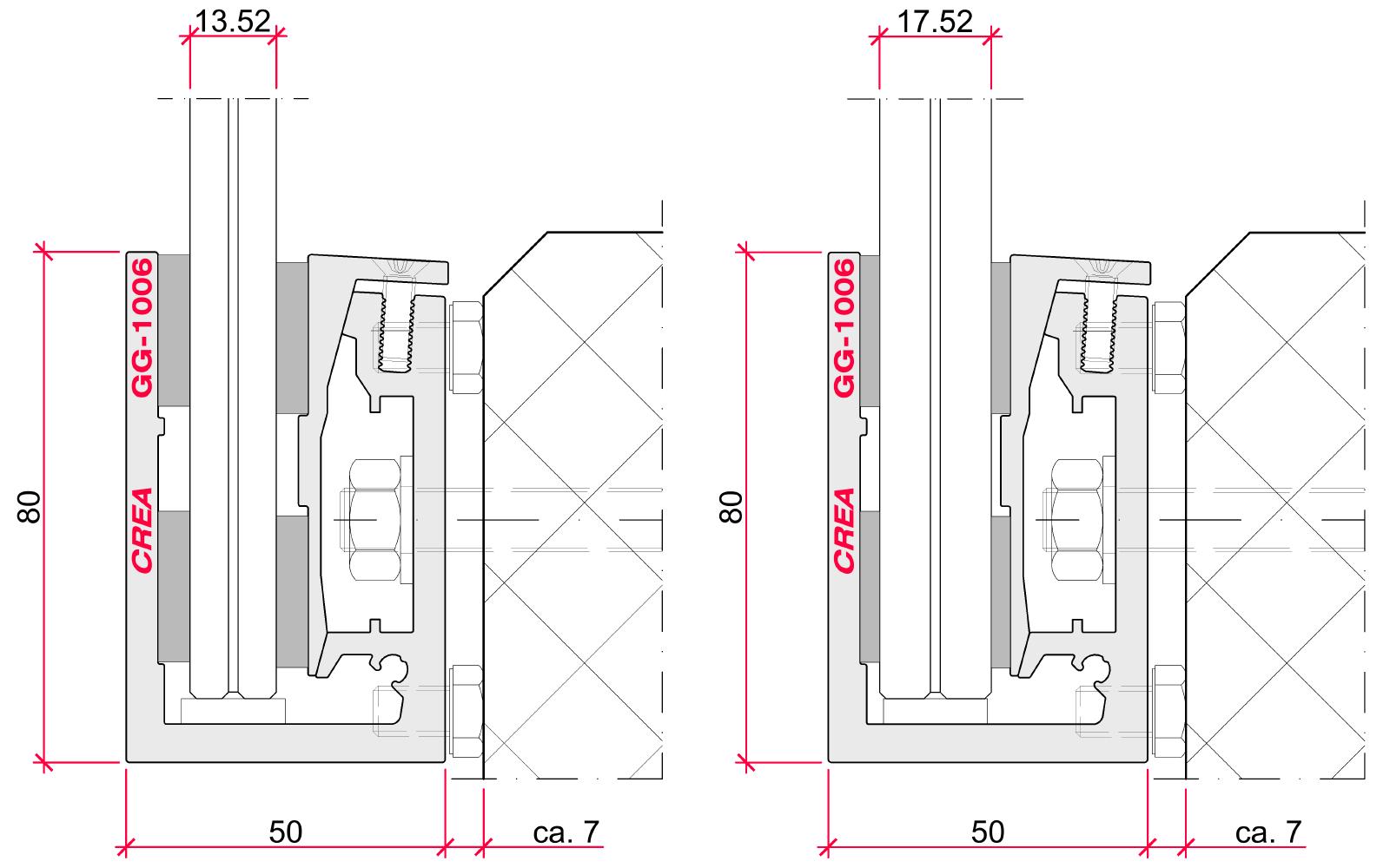 CREALINE GG-1006 installation options