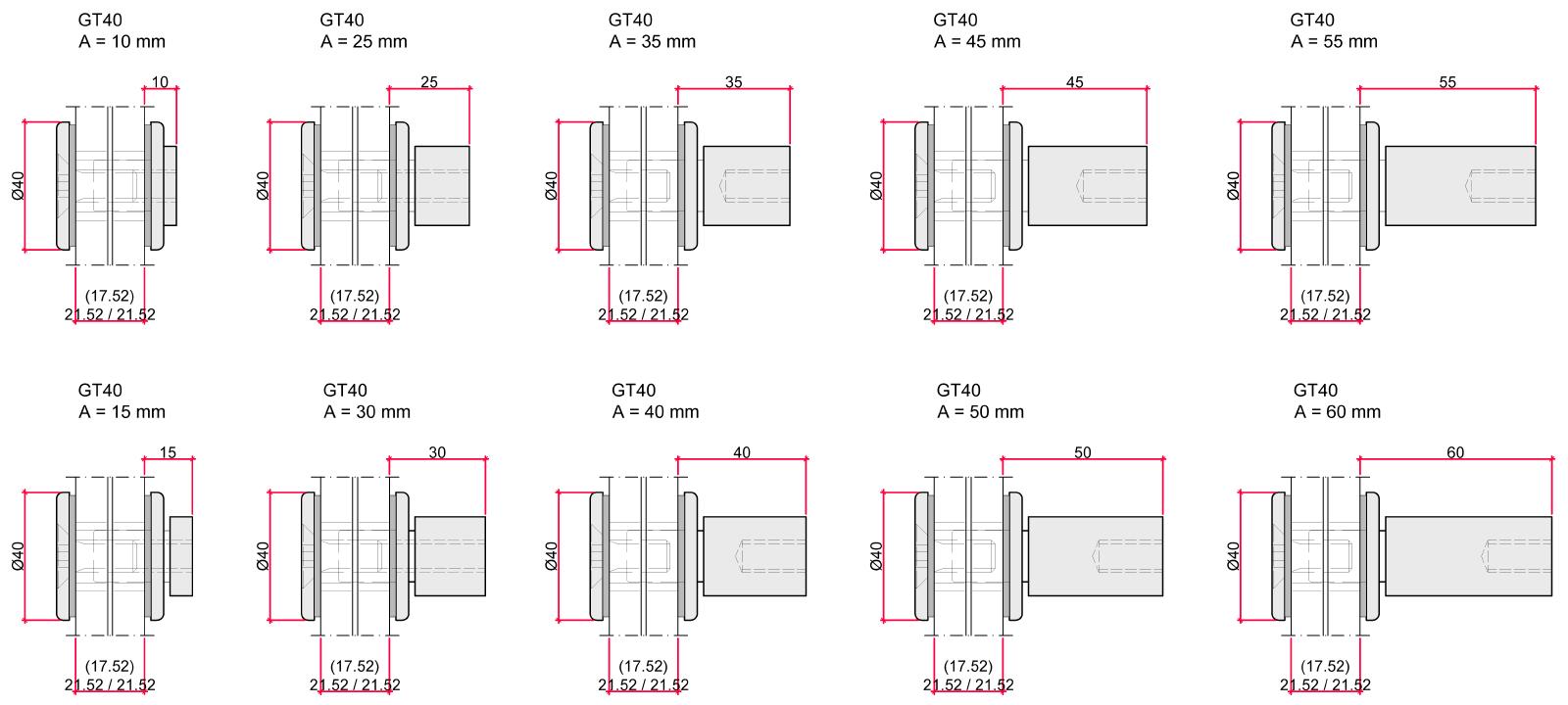 CREA-POINT GT40 possibilités de montage