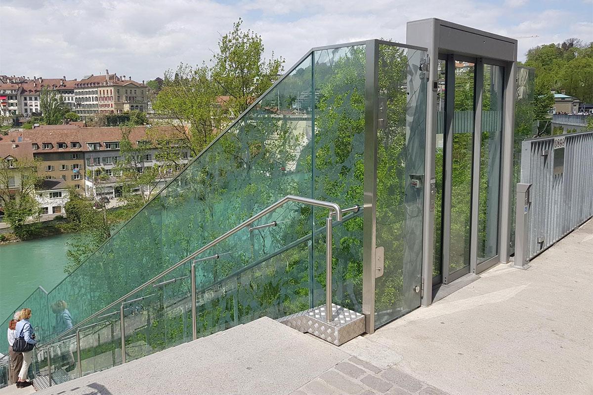 CREATIVITY - Glass Railing Barrier - BearPark Bern