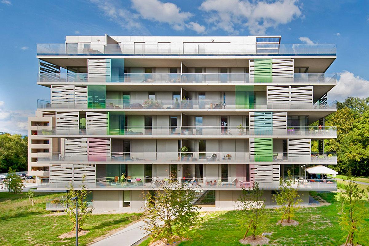 CREA-GLASS Films de couleur - La Chapelle - Quartier Oxygène, Lancy Genève