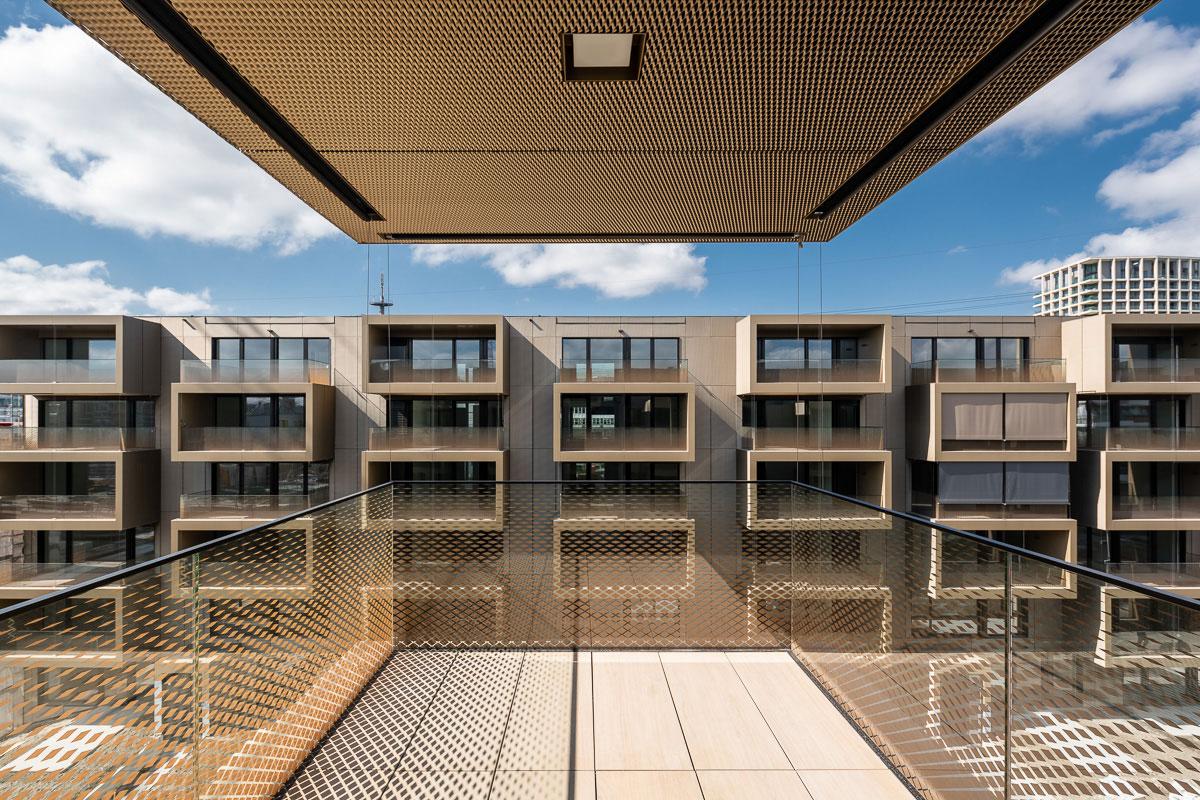 CREA-GLASS Sérigraphie sur verre - Développement du logement My Cocoon, Opfikon Glattparkstrasse