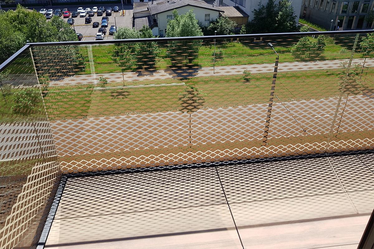 CREA-GLASS Siebdruck auf Glas - Wohnüberbauung My Cocoon, Opfikon Glattparkstrasse