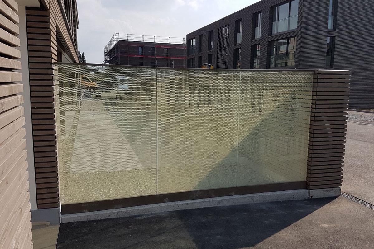 CREA-GLASS Sérigraphie sur verre - Développement du logement Sandacher Münsingen