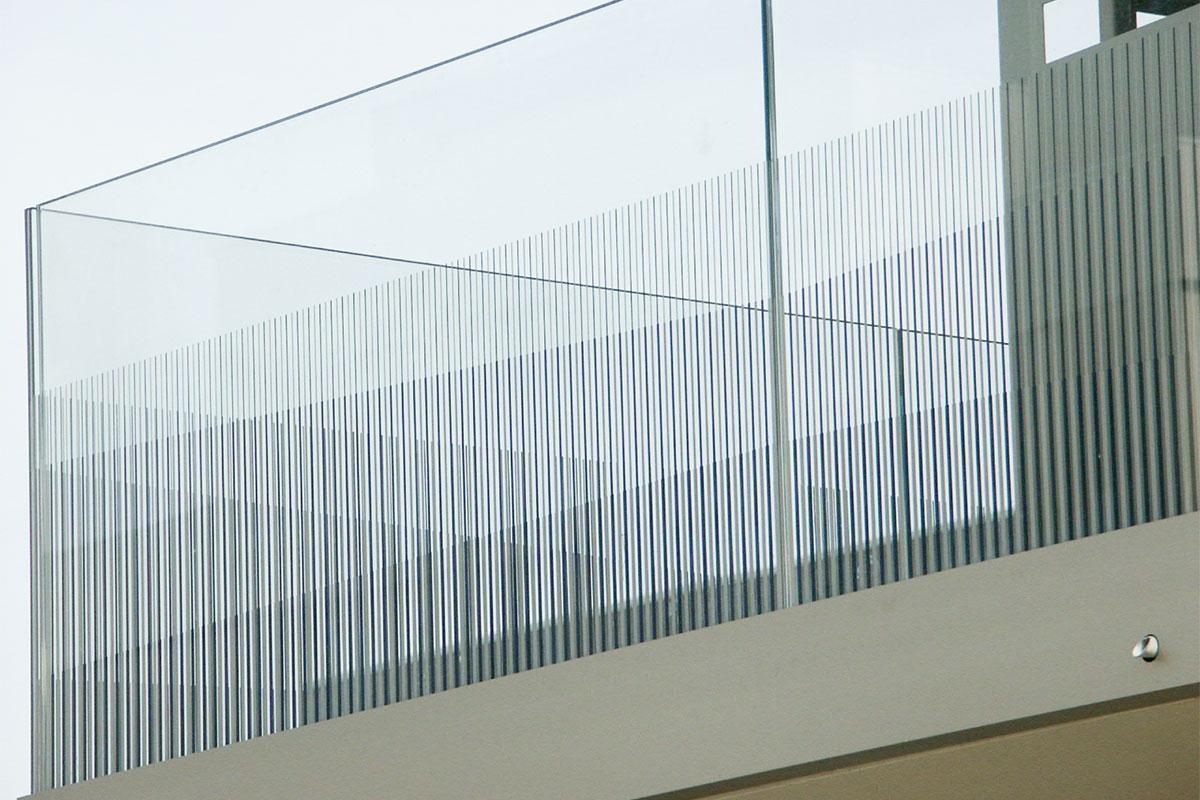 CREA-GLASS Siebdruck auf Glas - La Chapelle Quartier Oxygène, Lancy Genève